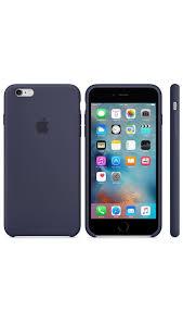 de silicona para el iPhone 6 Plus 6s Plus Azul noche