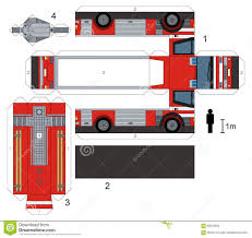 Paper Model Peterbilt Fire Trucks | Paper Model Of A Fire Truck, Not ...