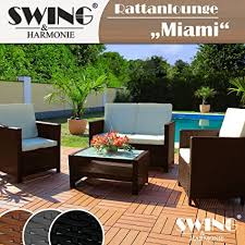 swing harmonie rattan lounge sitzgruppe für 4 personen