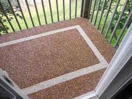 Inexpensive Patio Floor Ideas by Exteriors Pebble Stone Patio Flooring Brown River Rock Outdoor