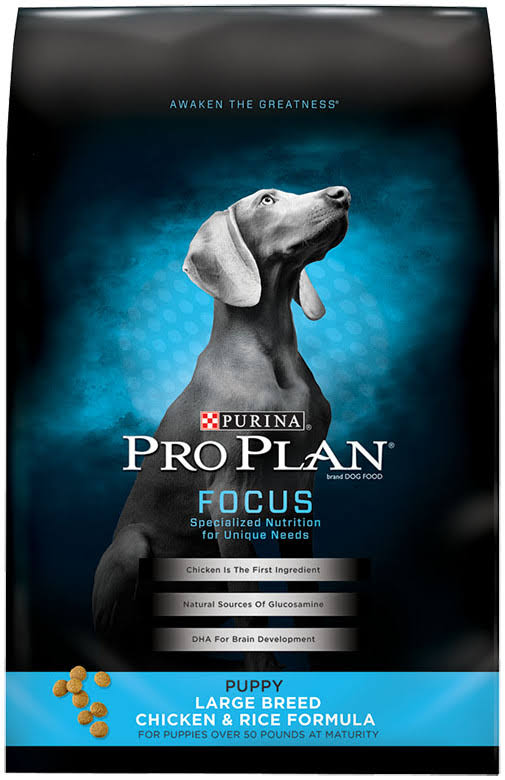 Purina Pro Plan Dry Puppy Food - Large Breed Formula, 34lbs