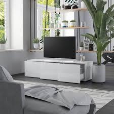 120cm tv schrank weiß hochglanz fernsehschrank tv bank sideboard lowboard unterschrank wohnzimmer