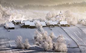 100 Beautiful White Houses Wallpaper Winter Village Houses White Snow