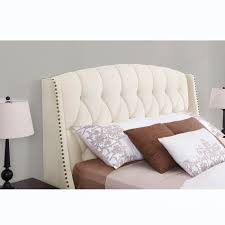 Skyline Tufted Headboard King by Dorel Signature Sophia Ivory Headboard Available In Full Queen