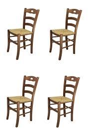 t m c s tommychairs 4er set stühle savoie für die küche und esszimmer robuste struktur aus lackiertem buchenholz im farbton nussbraun und