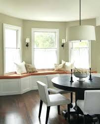 Bay Window Curtain Ideas For Living Room Curtains And Seat In Dining Treatment