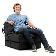 amazon com big joe zip armless chair limo black kitchen dining