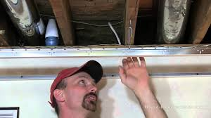 Drop Ceiling For Basement Bathroom by How To Install A Suspended Or Drop Ceiling Youtube