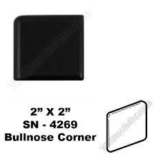 k111 black 2x2 bullnose corner sn4269 dal tile ceramic trim tile