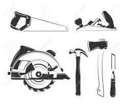 Vector Elements For Carpentry Labels Logos Badges And Emblems Equipment Tool