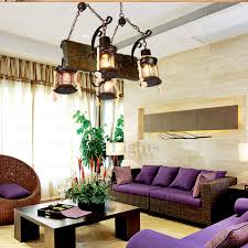 Rustic Chandeliers Wrought Iron Fixture Four Light