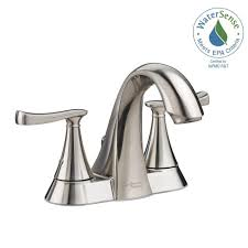Brushed Nickel Bathroom Faucets by American Standard Chatfield 4 In Centerset 2 Handle Bathroom