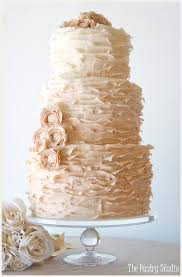 Vintage Ombre Wedding Cake With Pearl Centered Focal Flowers By