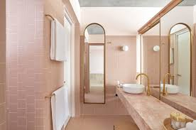 100 In Marble Walls Powder Room 11 Favorite PinkHued Bathrooms Modern Edition