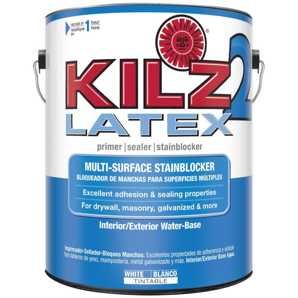 Kilz 2 Water-Based Multi-Purpose Latex Primer and Sealer - White, 1gal