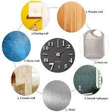 design wand uhr wohnzimmer wanduhr spiegel wandtattoo deko