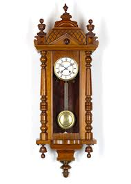 Classic Bedroom Area With Black Roman Numeral Pendulum Wall Clock Teak Carved Dark Brown