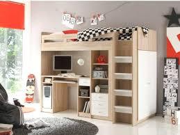 lit superposé avec bureau intégré conforama lit mezzanine avec bureau integre rangements alessio 90x200cm