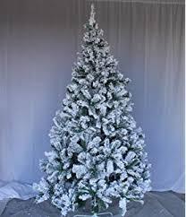 Flocking Powder For Christmas Trees by Amazon Com Perfect Holiday Christmas Tree 6 Feet Flocked Snow