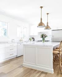 modern farmhouse kitchen island in dulux pale tendril and