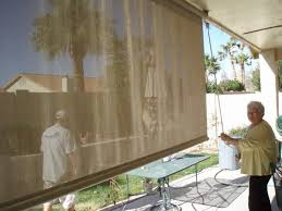 horizontal roll out solar shades