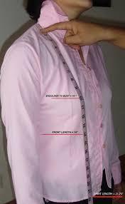 shirt length measuring guide for women