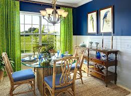 Dark Blue Dining Room View In Gallery And Green Give The Its Tropical Flavor