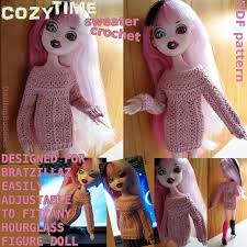 Bratzillaz Sweater Crochet Pattern ❤ Instant Download PDF Alter To