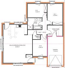 plan de maison de plain pied 3 chambres plan de maison 100m2 3 chambres plan rdc maison maison 2