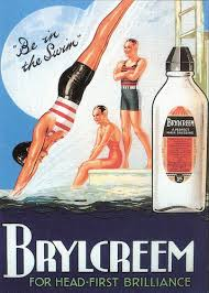 BRYLCREEM ADVERTISEMENT 1930s POSTER POSTCARD