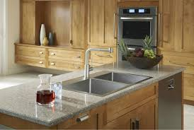 How To Change A Sink by Granite Countertop White Kitchen Shaker Cabinets Textured