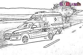 Coloriage Ambulance Et Dessin à Imprimer