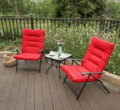 Amazon.com : PHI VILLA 3 PC Patio Adjustable Reclining Chair Set ... Most Comfortable Folding Chair Patio Fniture Swivel Chairs Cosco Products Vinyl Black Outdoor Fishing Camping Lweight Hiking Stool Seat Belize Midback Resin Ding Ett Distributors Chaise Lounge Cushions Stackable Lowes Chase Amazoncom Portable Padded Cushion Seat Epic Storage On With Additional Four Folding Chairs With Upholstered Cushions Suitable For Use In A All Things Cedar 2 Piece Hinged And Back Elite Fabric 181037 This Is A Broyhill Width Whosale Fold Away Office Beautiful Luxury