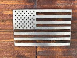 Rustic Metal American Flag Sign Decor Farmhouse Fixer Upper Style Porch Home Wall