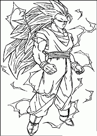 Goku Coloring Pages Printable For Kids In Dragon Ball Z