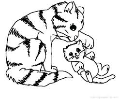 Free Coloring Pages Puppies And Kittens Incredible Cats Inspire Color Images Little Christmas Kitten Sheets