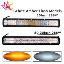 Hot Sale 20'' Inch 288W Led Light Bar 12v White Amber Strobe ... 4led Light Bar Beacon Vehicle Grill Strobe Emergency Warning Flash Umbrella Inspirational High Power 1224v 20led Super Bright Caution Hazard Safety Bars 55 Inch 1 4m 104 Led Castaleca Car Truck Trailer Side Marker Strobe Lights Amber 12 Led Kacowpper 6 Nwhosale New 2 X 48 96led Flashing Lights Buyers 8892000 Set Of 5 9 Marker With