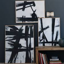 Abstract Black White Wall Art