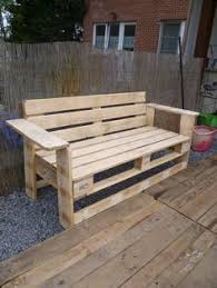 Diy Bench from 2 Pallets