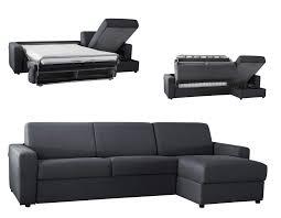 canapé lit d angle réversible microfibre ouverture express