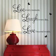 Live Every MomentLaugh Day Love Beyond Words With 2x Butterfly Wall Quote Art Sticker Decal For Home Bedroom Decor Corp Office Saying Mural