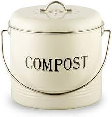 komposteimer für küchen arbeitsplatte mit 7 bonus filtern vintage komposteimer für den innenbereich mit deckel fliegen geruchsdichter