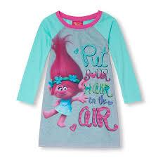 girls trolls u0027put your hair in the air u0027 nightgown the children u0027s