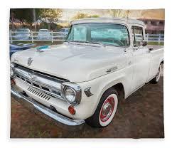 100 F100 Ford Truck 1957 Pickup Fleece Blanket