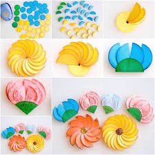 How To Make Easy Paper Circle Flowers Diy Tutorial
