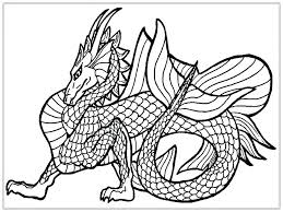 Chinese New Year Dragon Coloring Page Head Pages For Adults Detailed