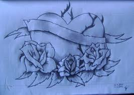 Related Tattoo Designs Heart Red Roses