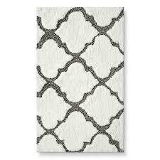 farmhouse bath threshold medallion bath rug gray 20x34