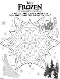 Frozen Christmas Coloring Pages Printable And Anna Page For Kids Happy Birthday Characters