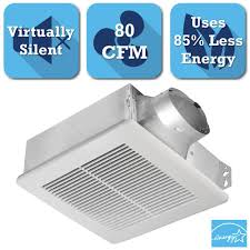 Install Bathroom Vent No Attic Access by Delta Breez Slim Series 80 Cfm Ceiling Or Wall Exhaust Bath Fan